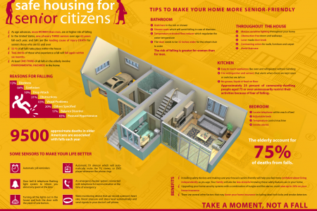 Safe housing for senior citizen Infographic