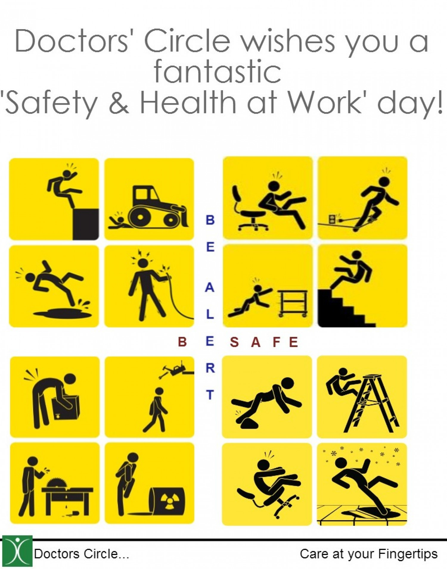Safety At Work : Quot safety and health at work day visual ly