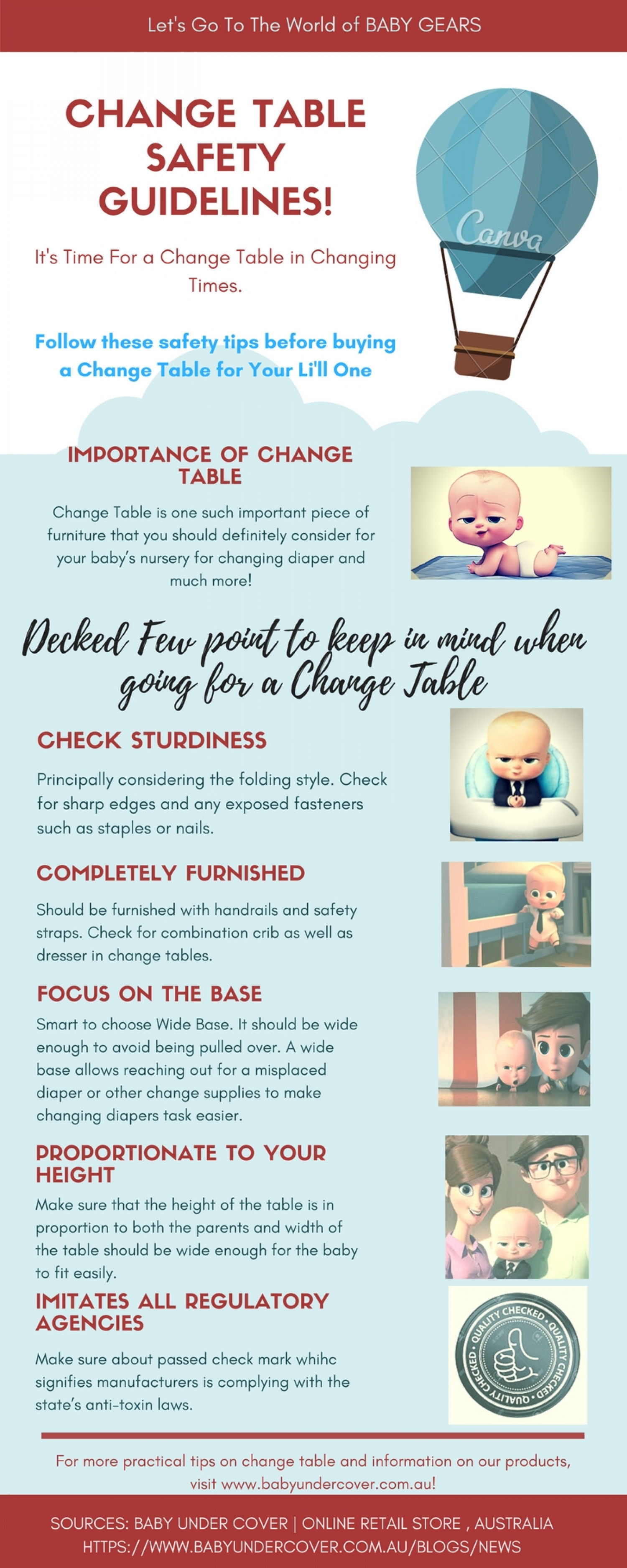 Safety Guidelines You Must Follow Before Buying A Changing Tables ! Infographic