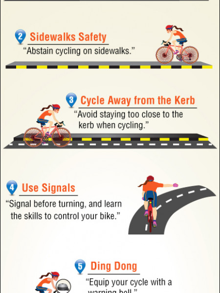 6 Safety Tips for Cyclists Infographic
