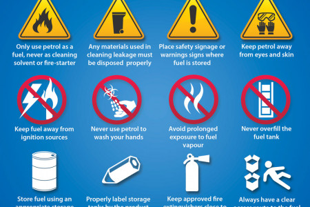 Safety Tips in Fuel Handling and Storage - Free Infographic Infographic