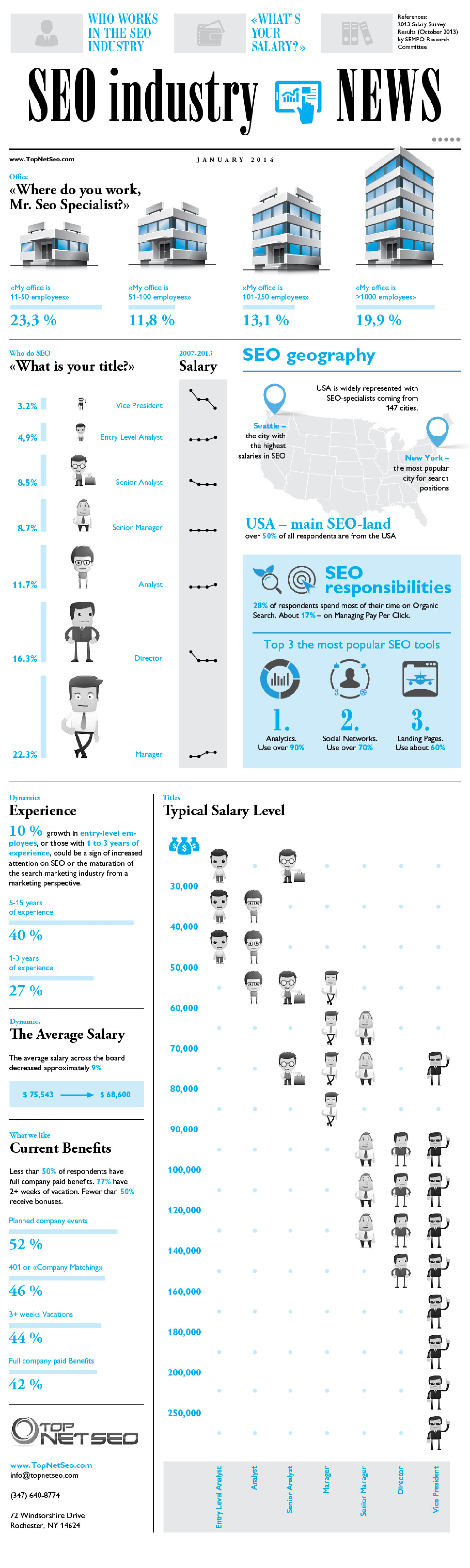 Salary in SEO Infographic
