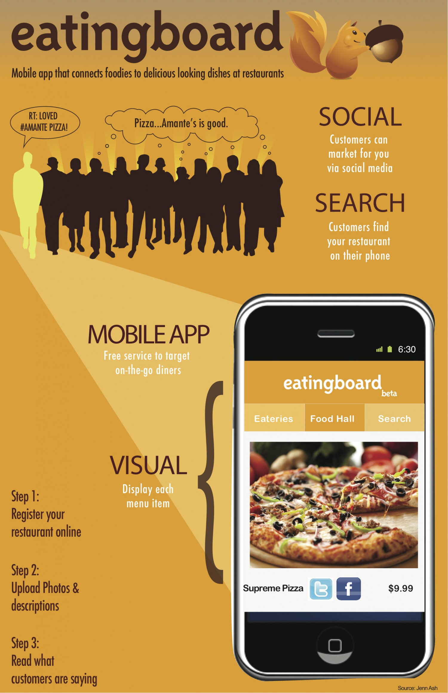 Sales Flyer for Mobile App Infographic