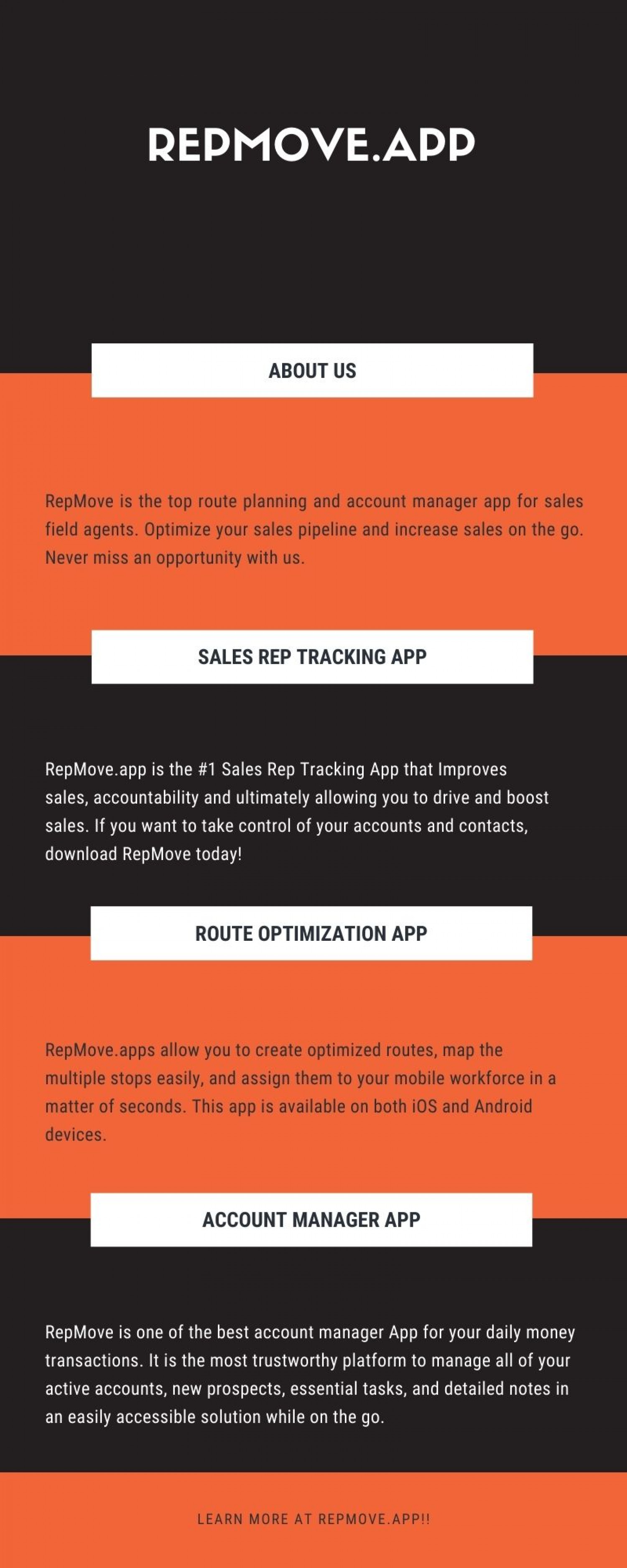 Sales Rep Tracking App Infographic