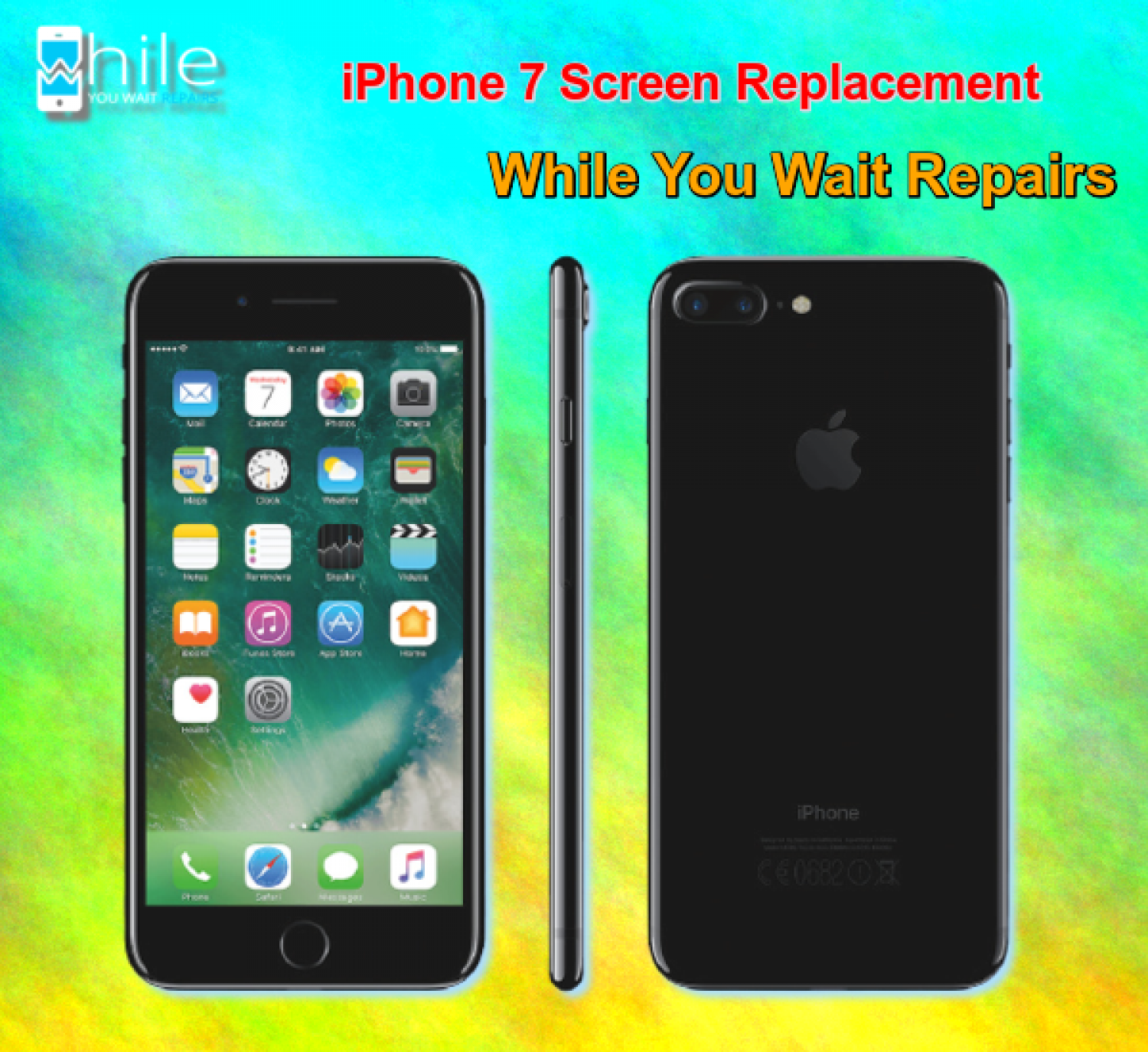Same Day Apple iPhone 7 Cracked Screen Repair Service London Infographic