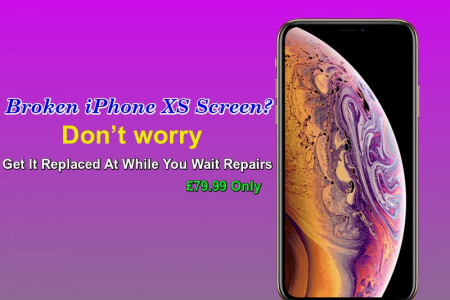 Same Day Apple iPhone XS Cracked Screen Repair Service London Infographic