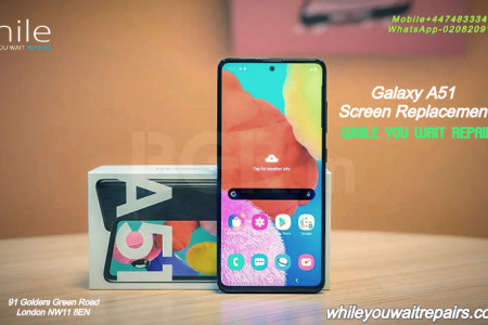 Same Day Galaxy A51 Cracked Screen Replacement Service London Infographic