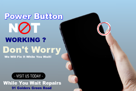 Same Day Mobile Phone Power Button Repairs London Infographic