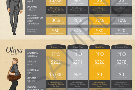 Sample Obamacare Marketplace  Insurance Plans Infographic