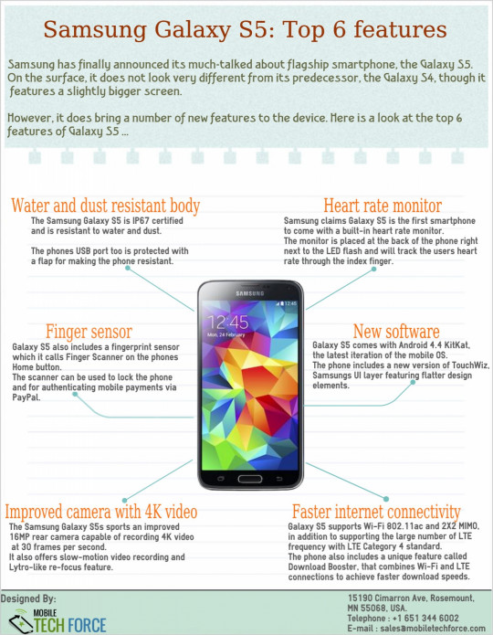 Samsung Galaxy S5: Top 6 Features