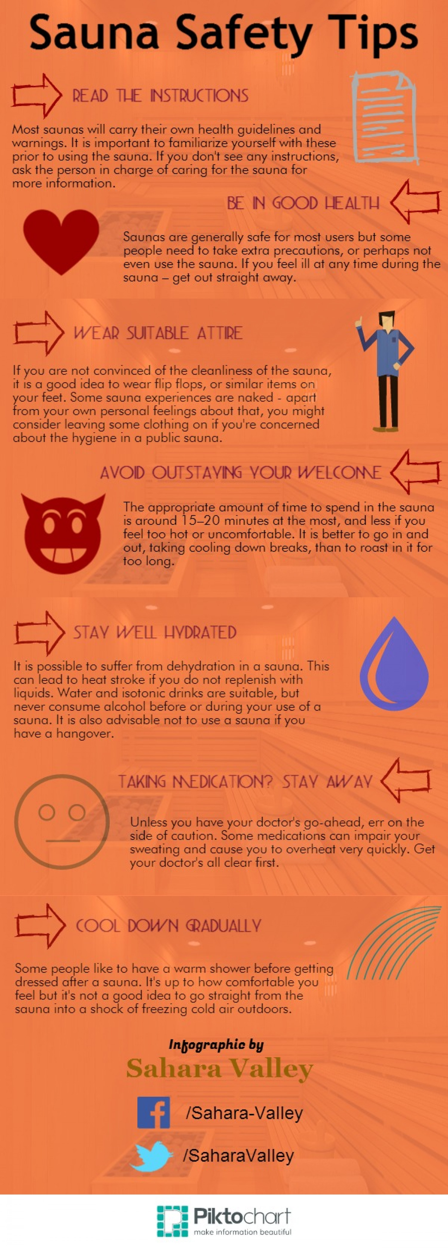 Sauna Safety Tips Infographic