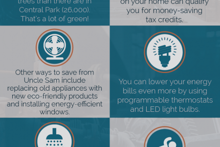 Save Money, Make Your Home More Environmentally Friendly Infographic