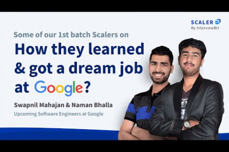 Scaler Academy Alumni's share their tips on how they cracked the Google Coding Interview Infographic