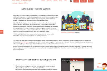 school bus tracking system Infographic