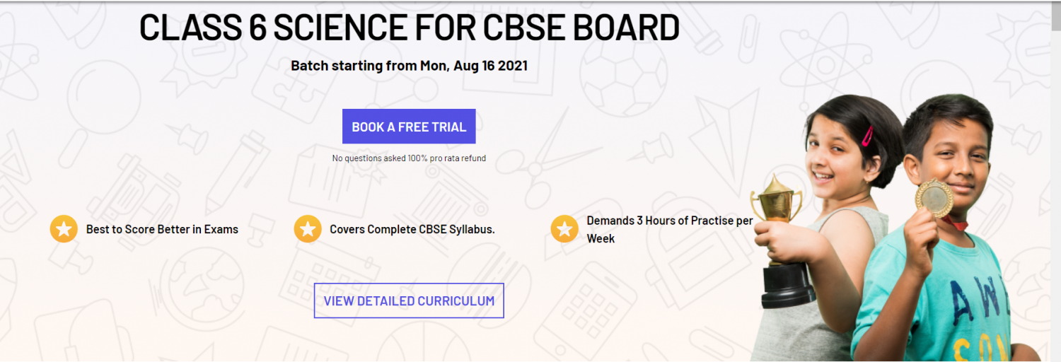 SCIENCE COURSE FOR CBSE BOARD CLASS 6 - Swiflearn Infographic