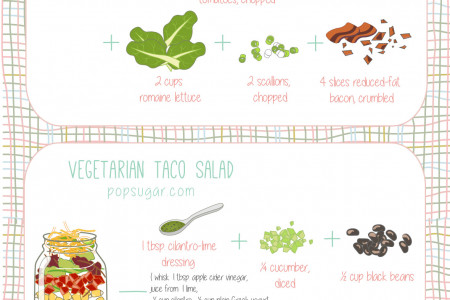 Seal in Goodness: 10 Healthy Mason Jar Salad Recipes Infographic