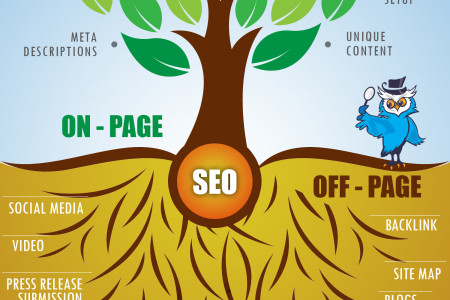 Search Engine Optimization - Onpage and Offpage Optimation Technique Infographic
