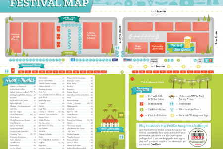 Seattle Street Food Festival Map Infographic