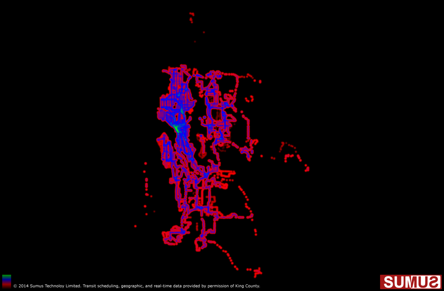 Seattle Transit, Washington Coverage Map: May 28th, 2014 Infographic