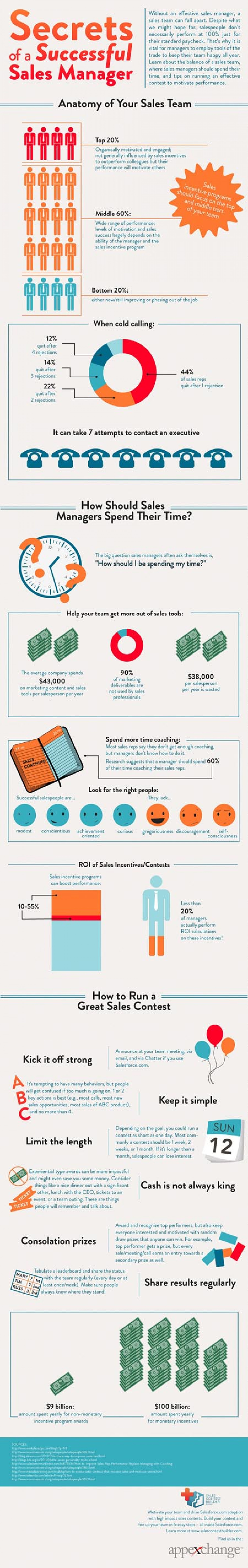 Secrets of a Successful Sales Manager Infographic