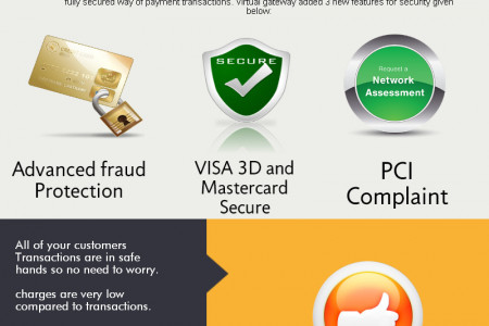 Secure Payment Gateway Infographic