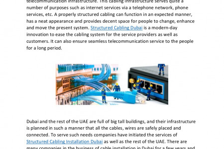 Secure your Cables with Structured Cabling Installations Infographic