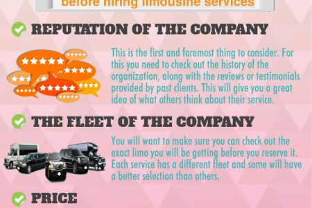 Selecting The Right Limousine Service For Your Special Event Infographic
