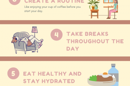 Self care tips while working from home Infographic