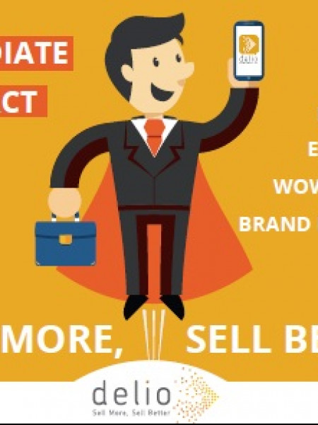 Sell More and Better contacting Your leads faster with Delio Infographic