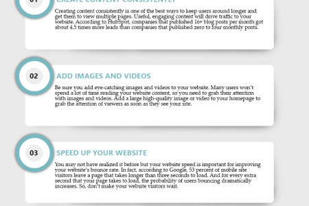 SEO Guide: How to Improve your Website's Bounce Rate? Infographic