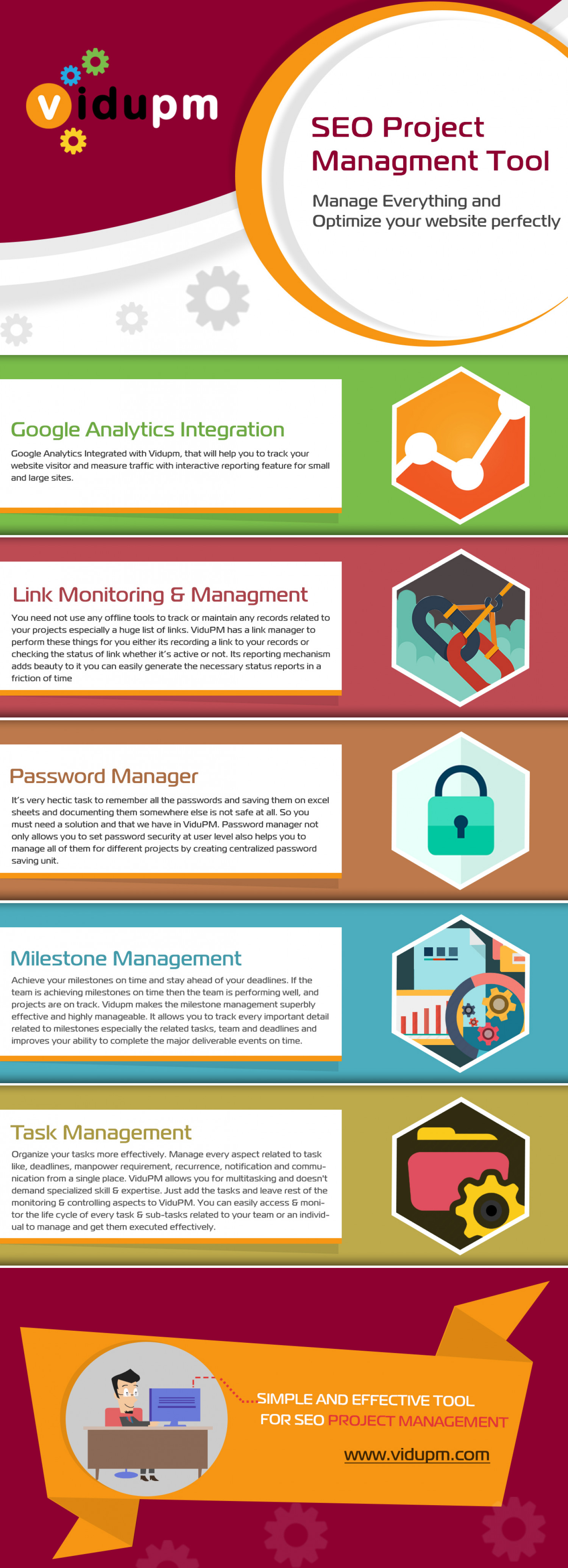 SEO Project Management Tool Infographic