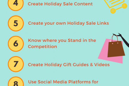 SEO tips to increase Holiday Festive Season Sale of eCommerce Store Infographic