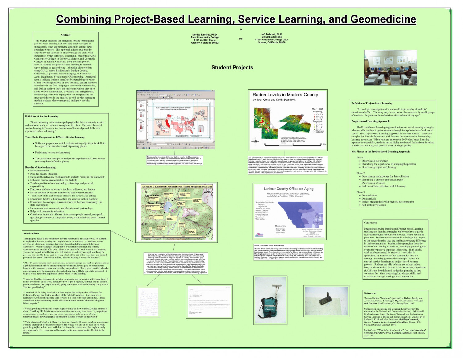 Service Learning and Geomedicine Infographic