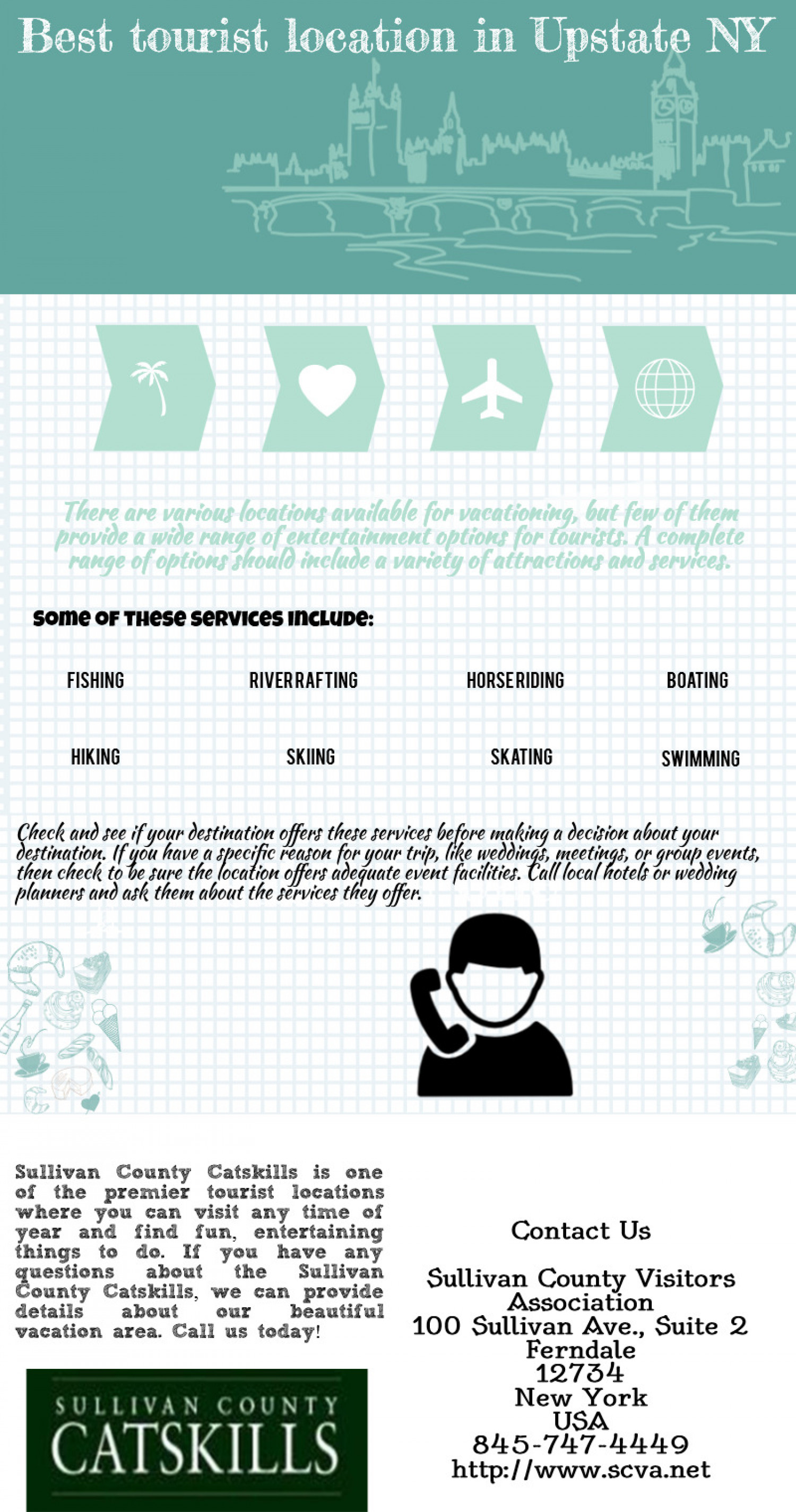 Services offered by vacation spots Infographic