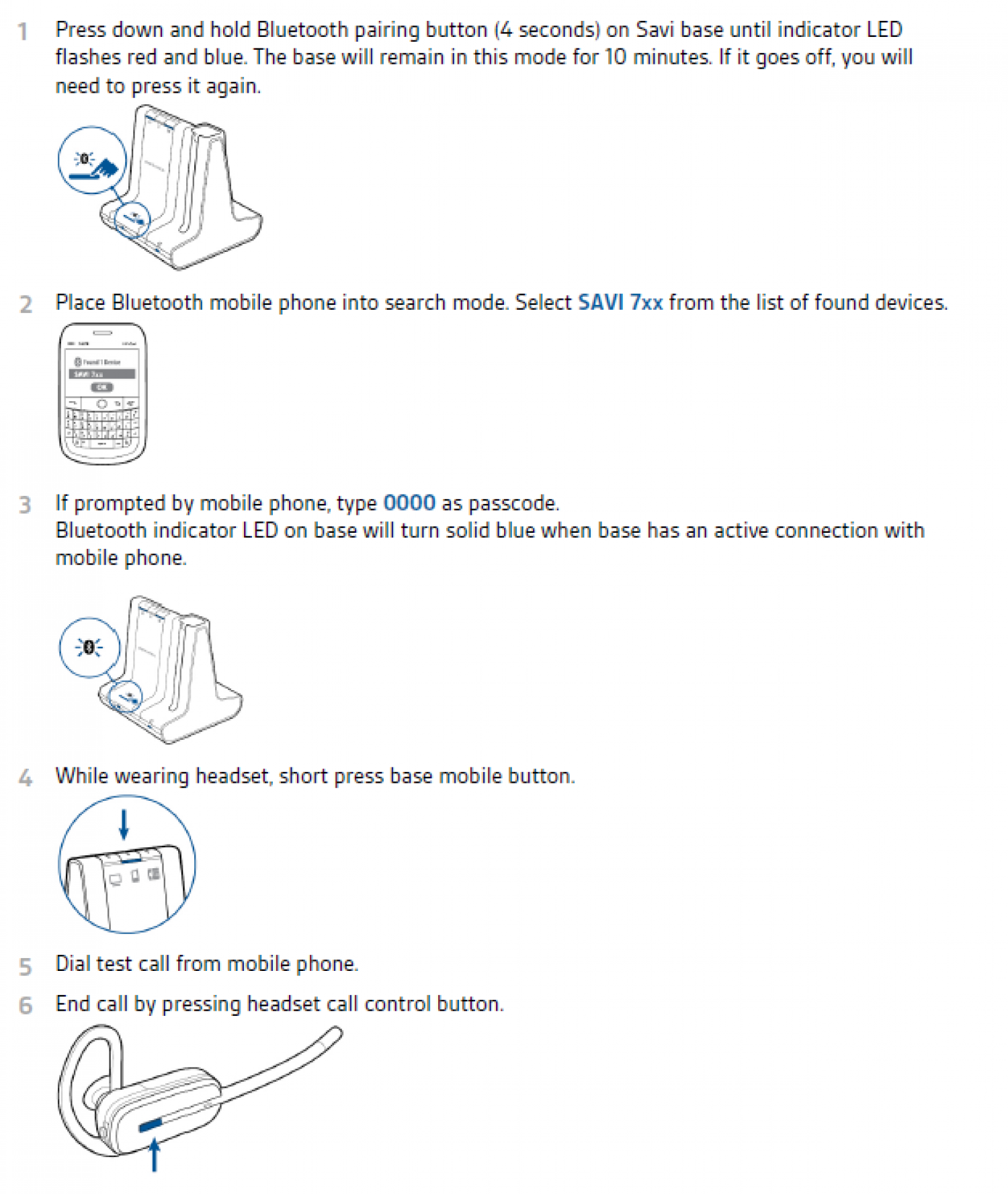 Setting up Plantronics W740 Wireless Headset Infographic
