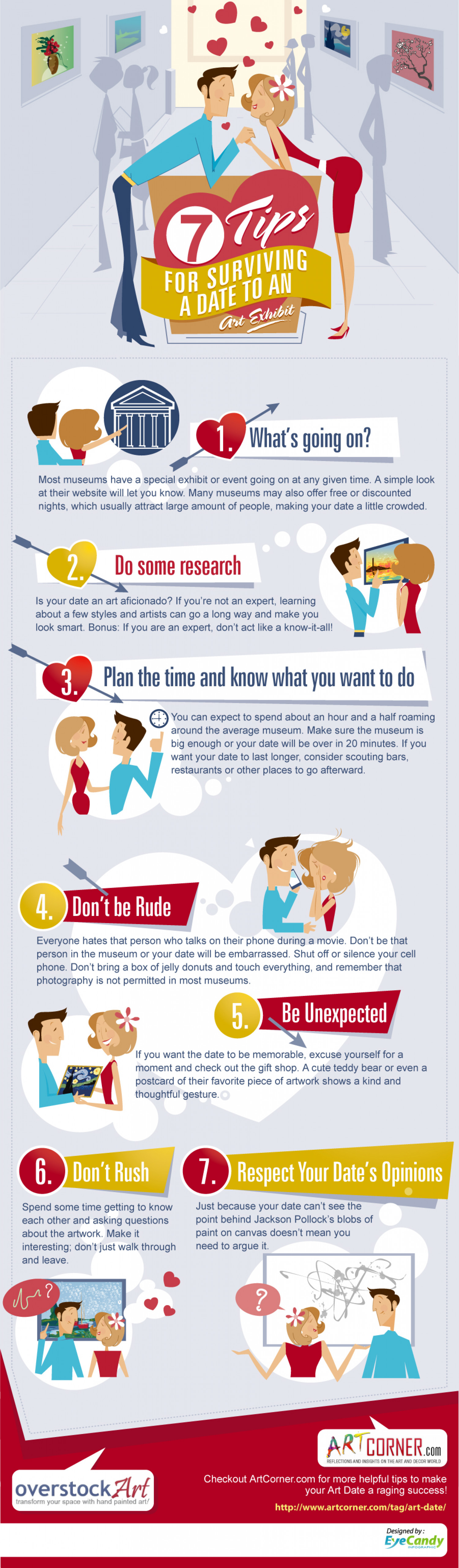 Seven Tips to Surviving a Date to the Art Museum Infographic