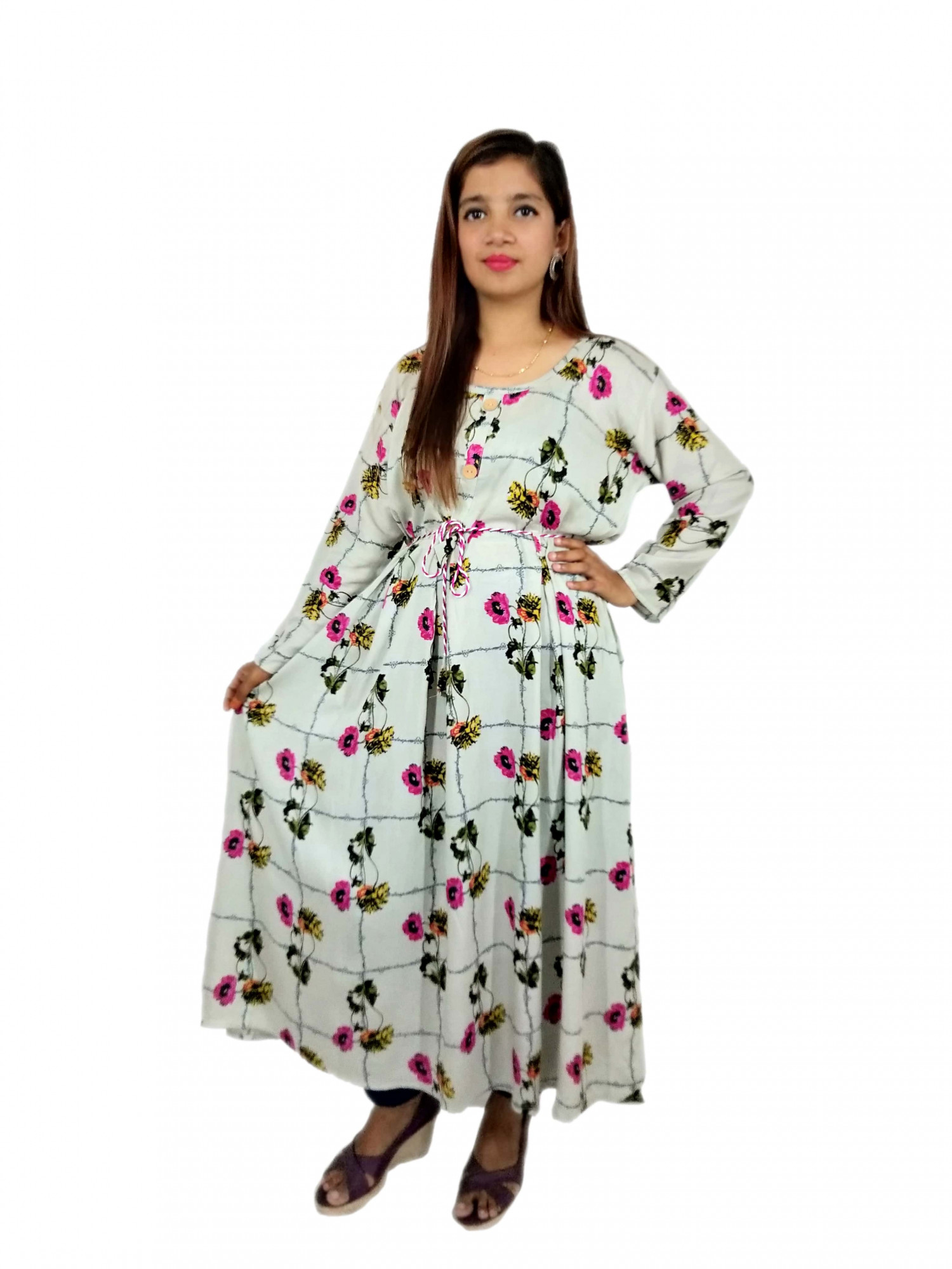 $ Sexy Floral Printed Cotton Kurtis For Woman $ Vihustore Infographic