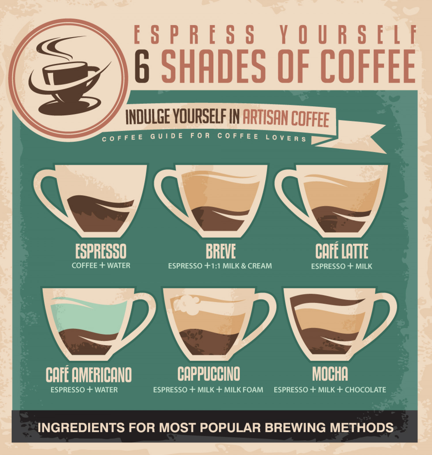 Shades of Coffee Infographic
