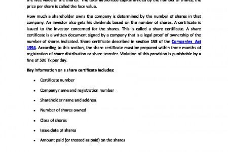 Share Certificate Infographic