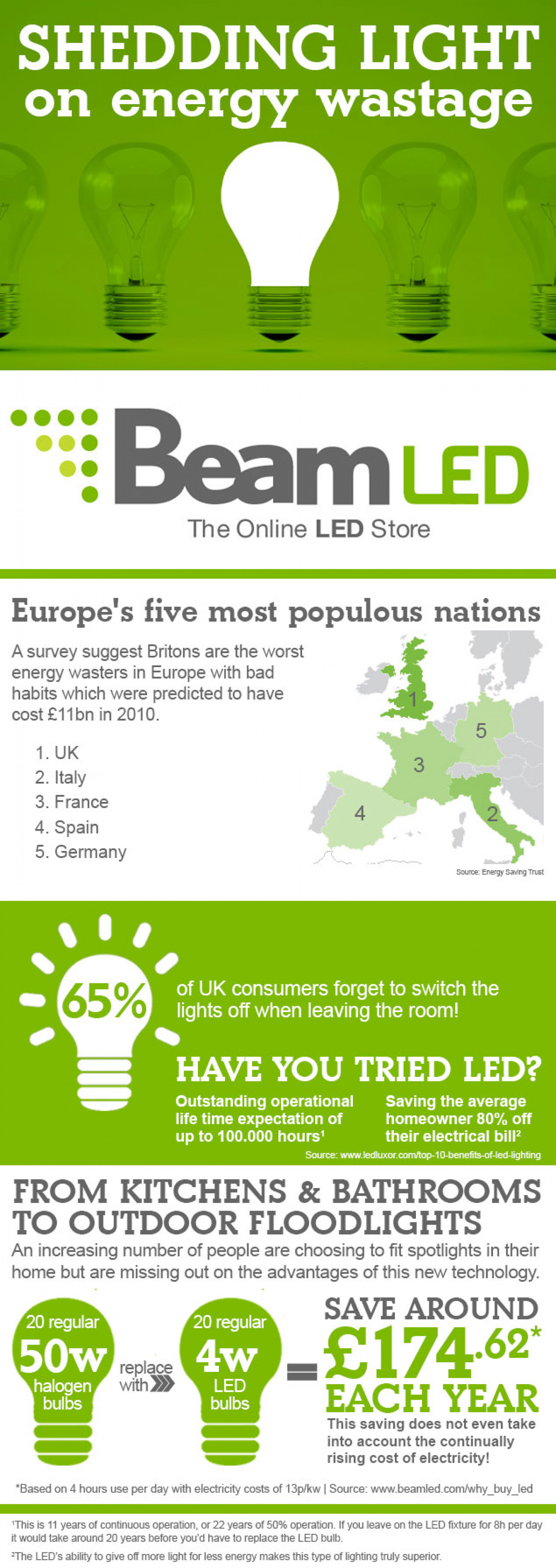 Shedding Light on the UK's Energy Wastage Infographic