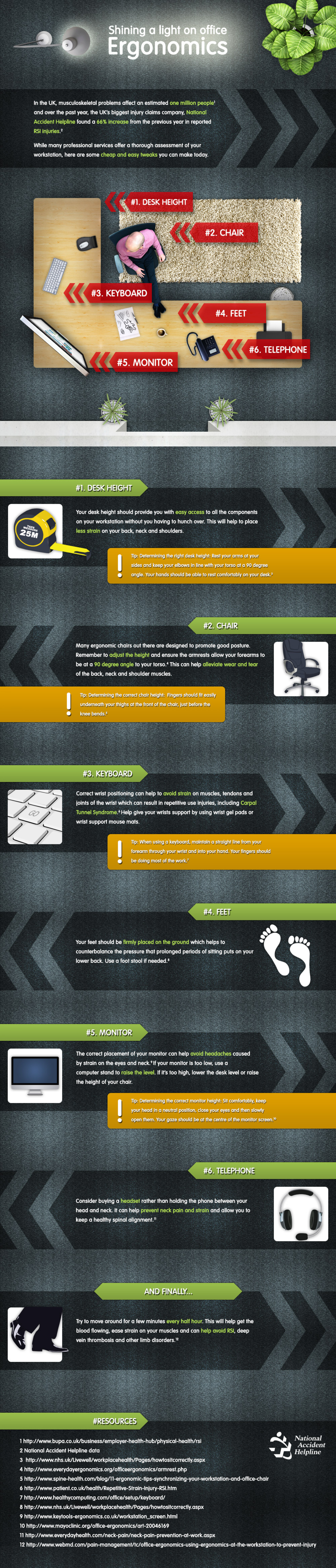 Shining a light on office ergonomics  Infographic