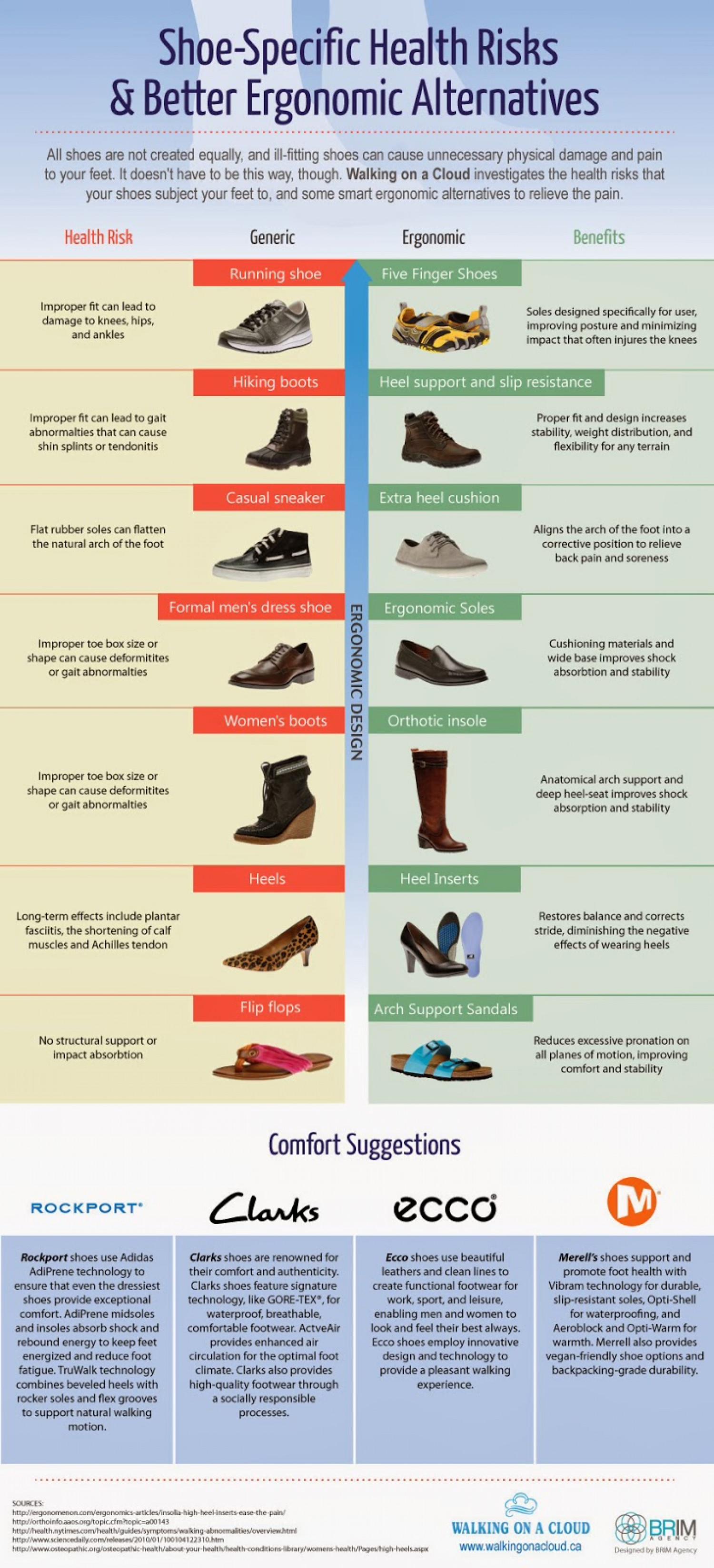 Shoe-Specific Health Risks and Better Ergonomic Alternatives  Infographic