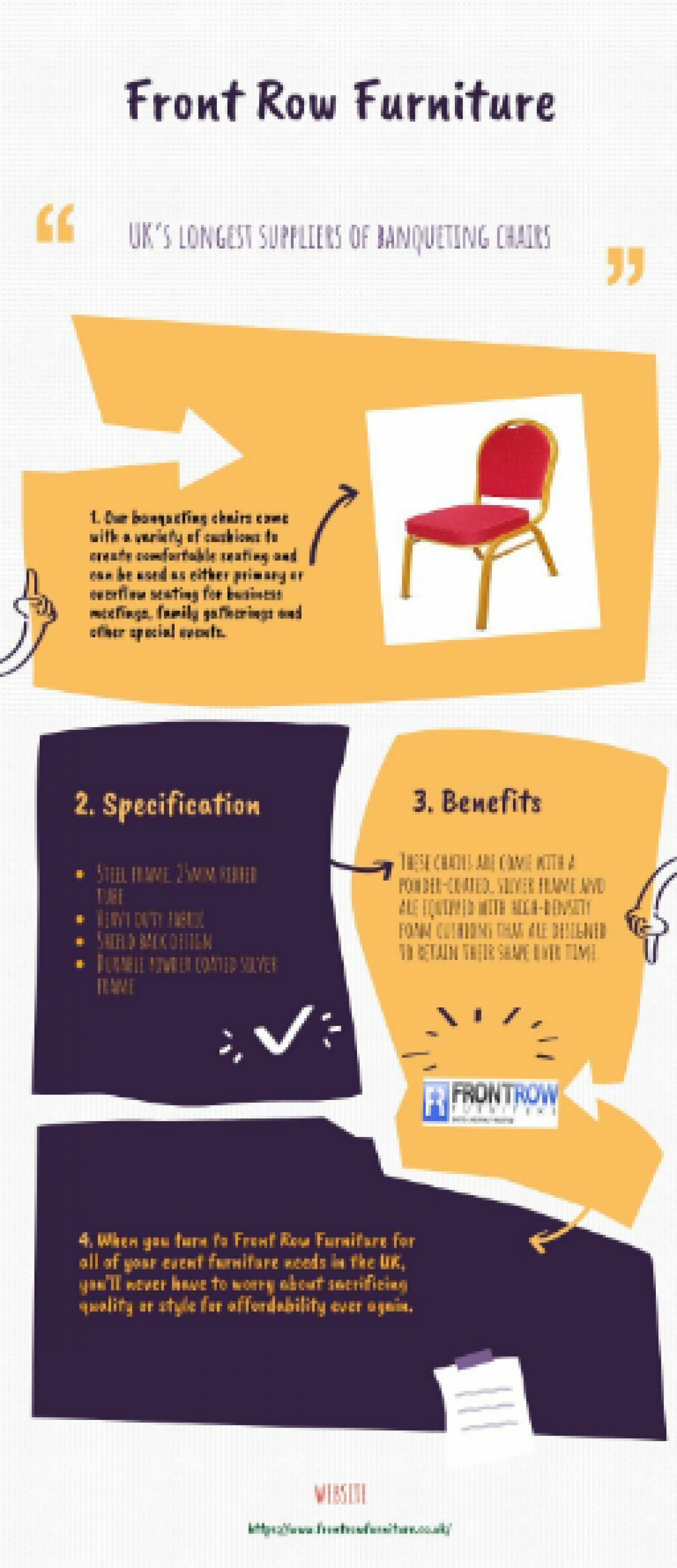 Shop Online Banqueting Chairs at Front Row Furniture Infographic