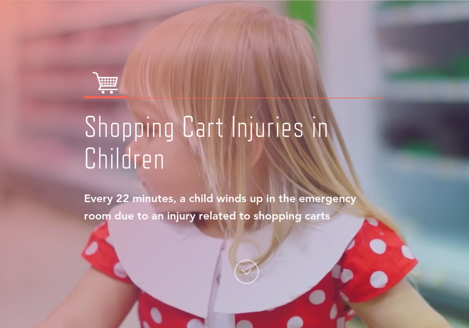 Shopping Cart Accident Prevention Guide  Infographic