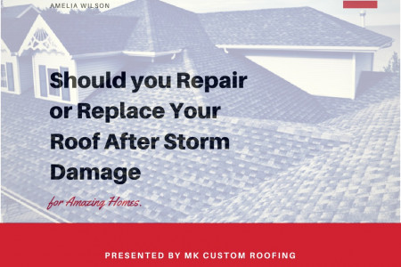 Should you Repair or Replace Your Roof After Storm Damage Infographic