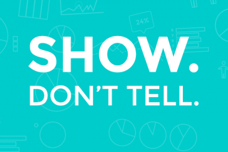 Show. Don't Tell.  Infographic