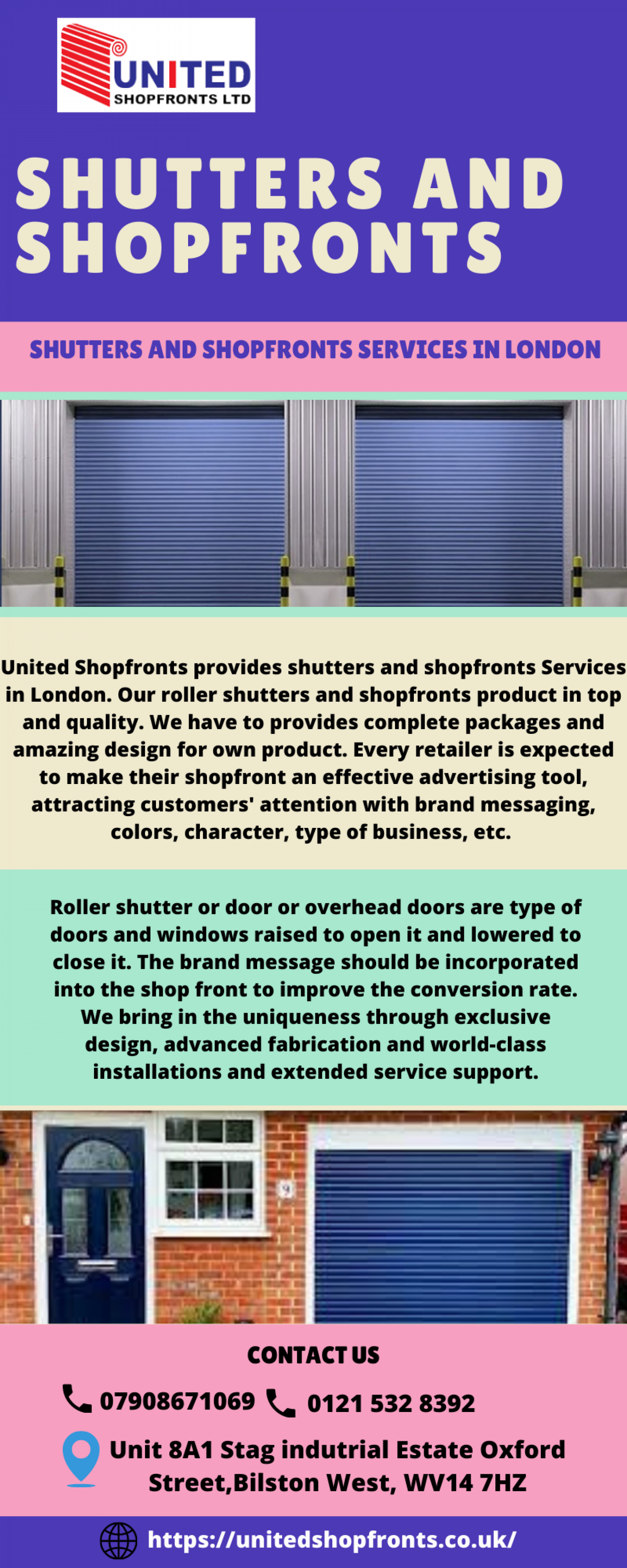 Shutters and Shopfronts Services in London Infographic