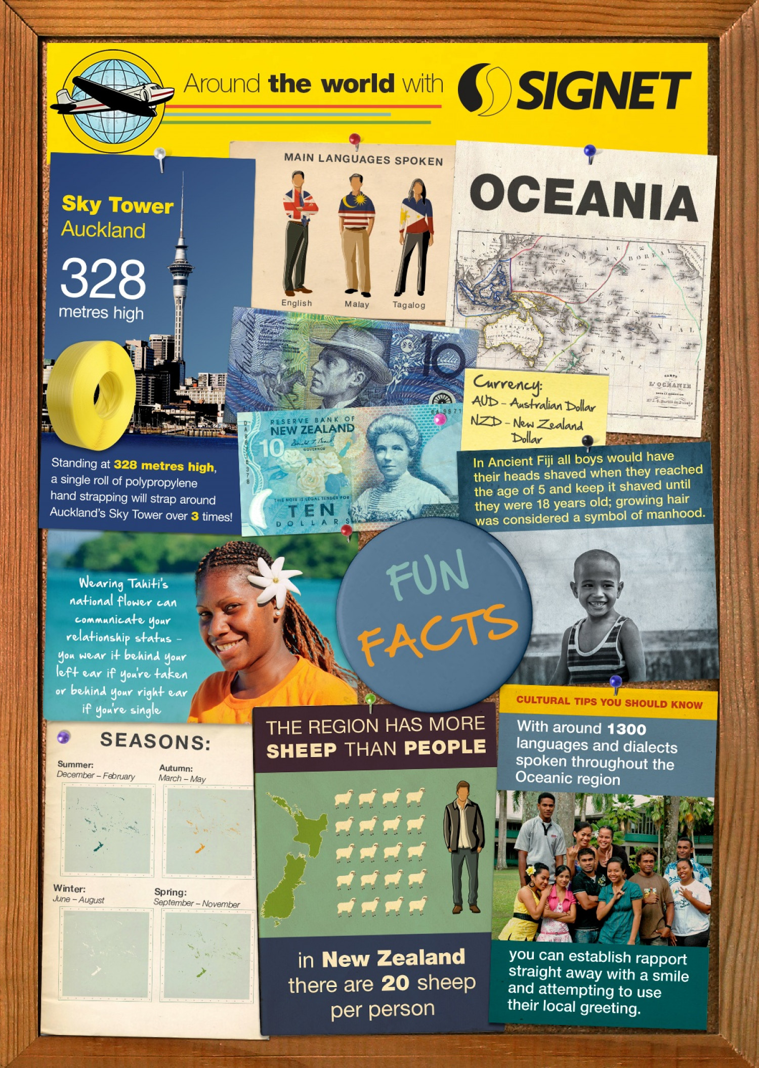 Oceania Fun Facts Infographic