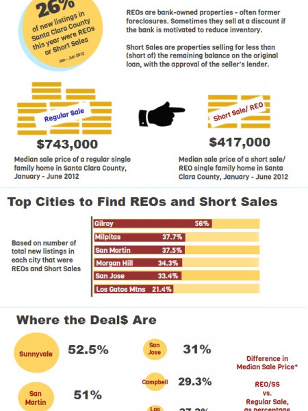 Silicon Valley REOs, Short Sales Mid-Year Snapshot Infographic