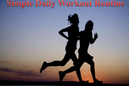 Simple Daily Workout Routine Infographic